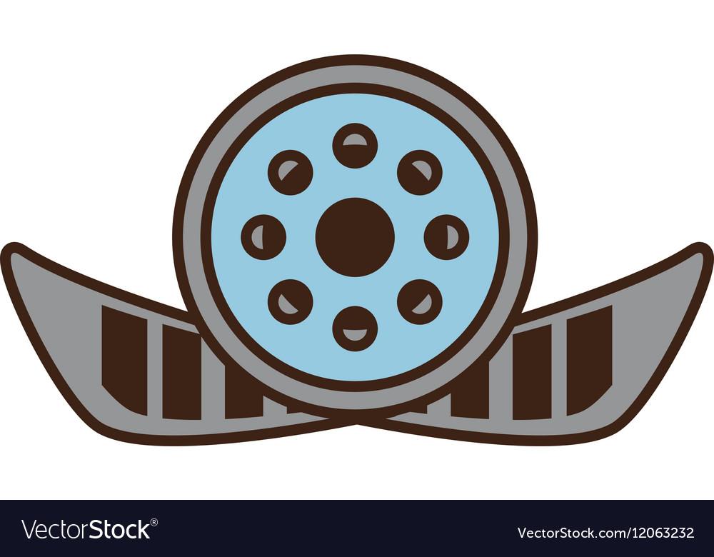 Cartoon reel film movie wheel icon
