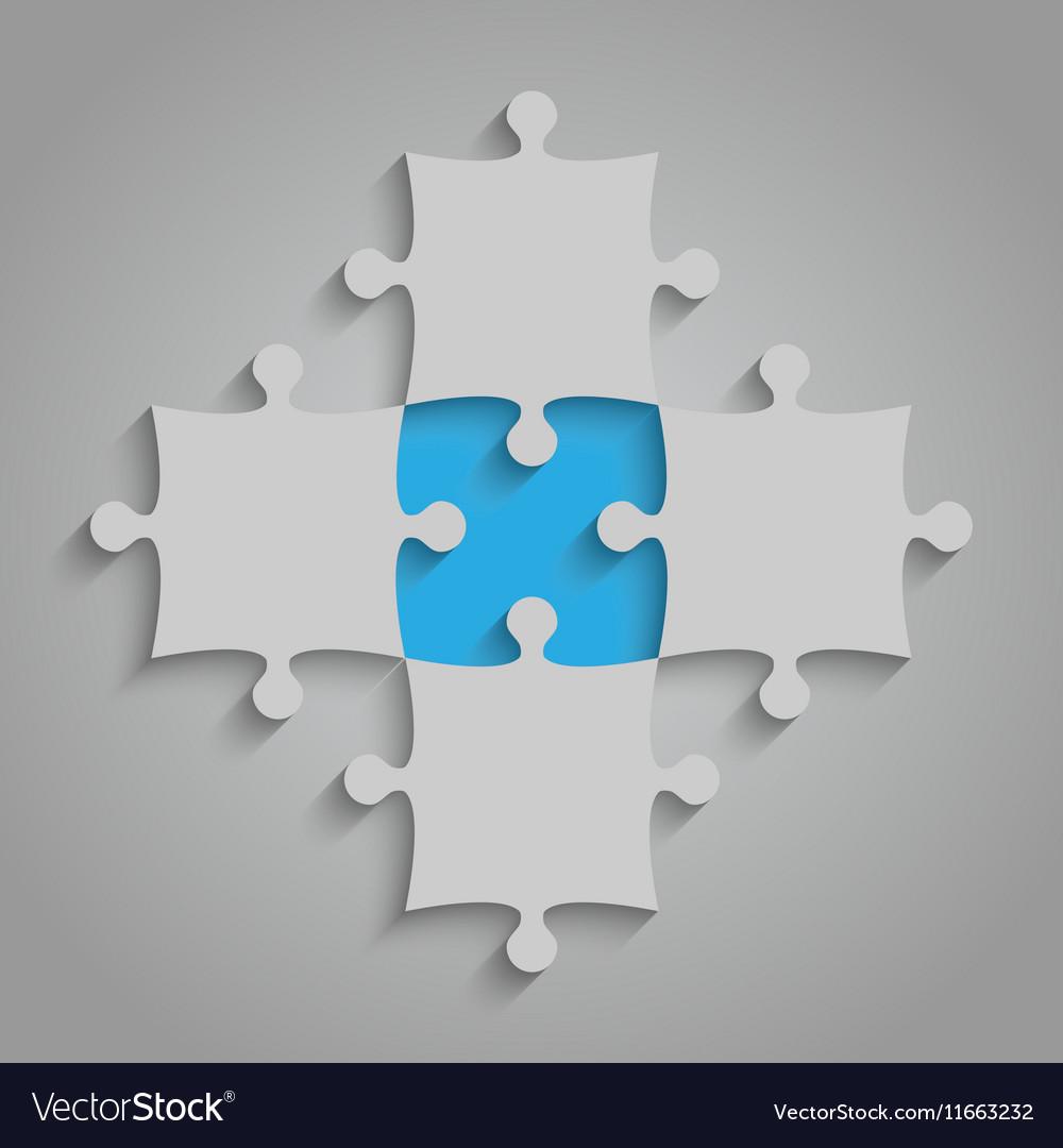 Element Puzzles JigSaw - 5 Pieces Blue