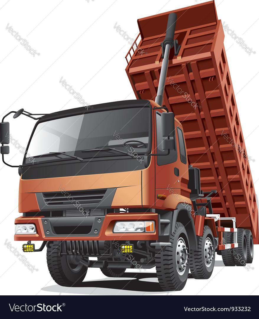 Large dumper in action vector image