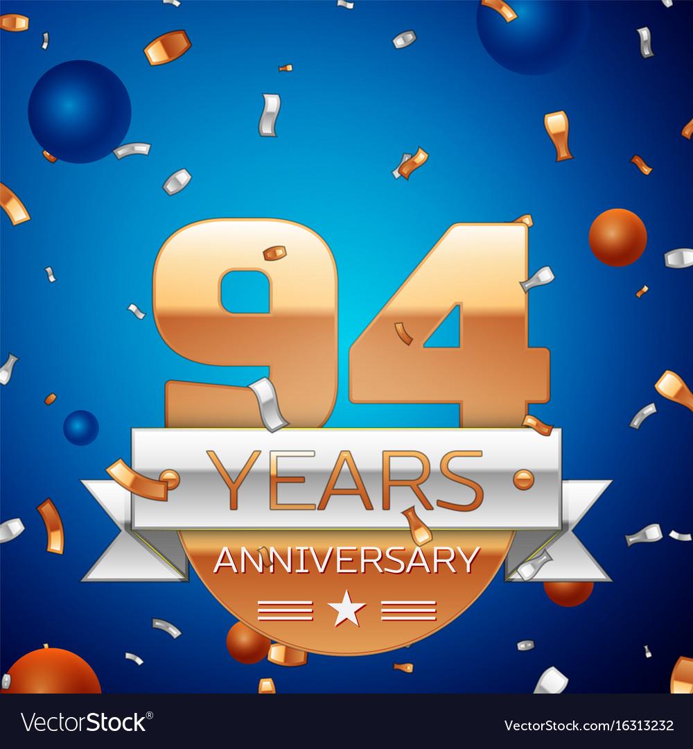 Ninety four years anniversary celebration design