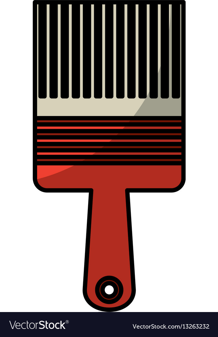 Paint brush tool icon vector image