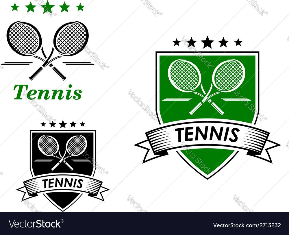 Tennis sporting emblems