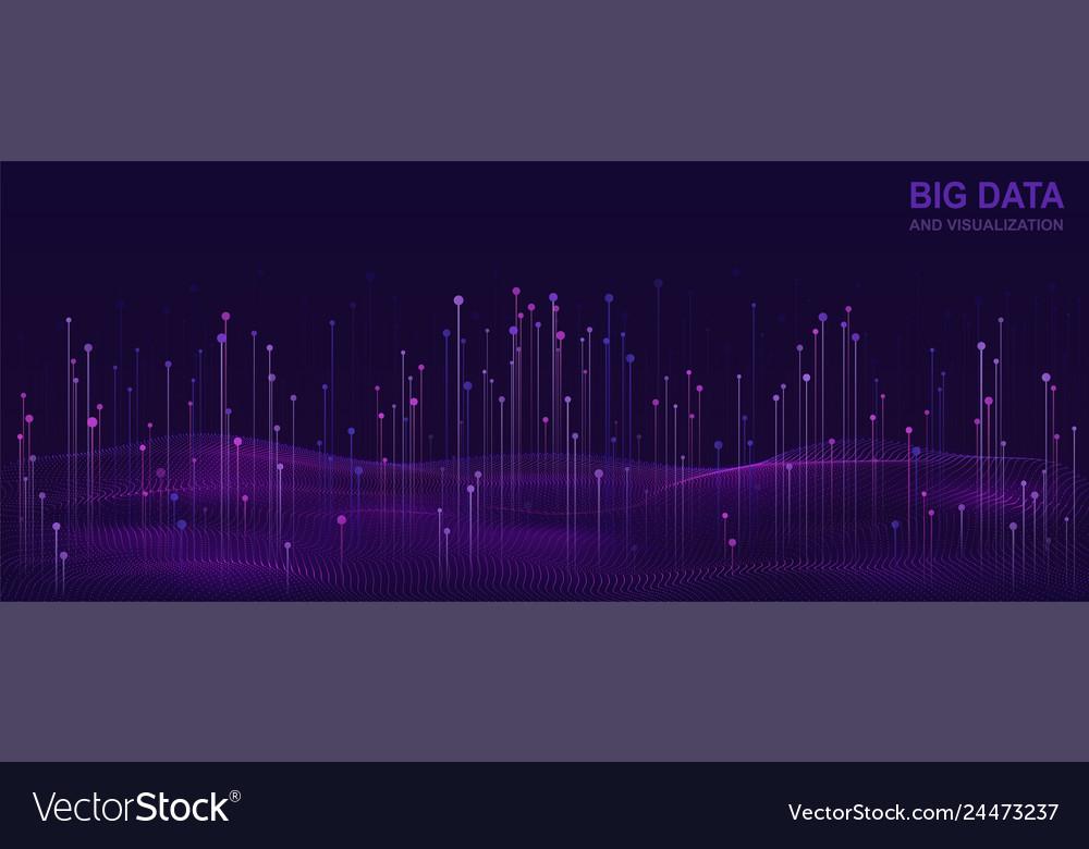 Big data visualization futuristic design of data