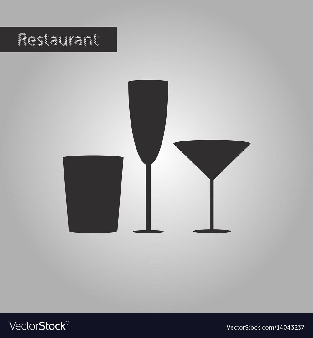 Black and white style icon glasses for wine and