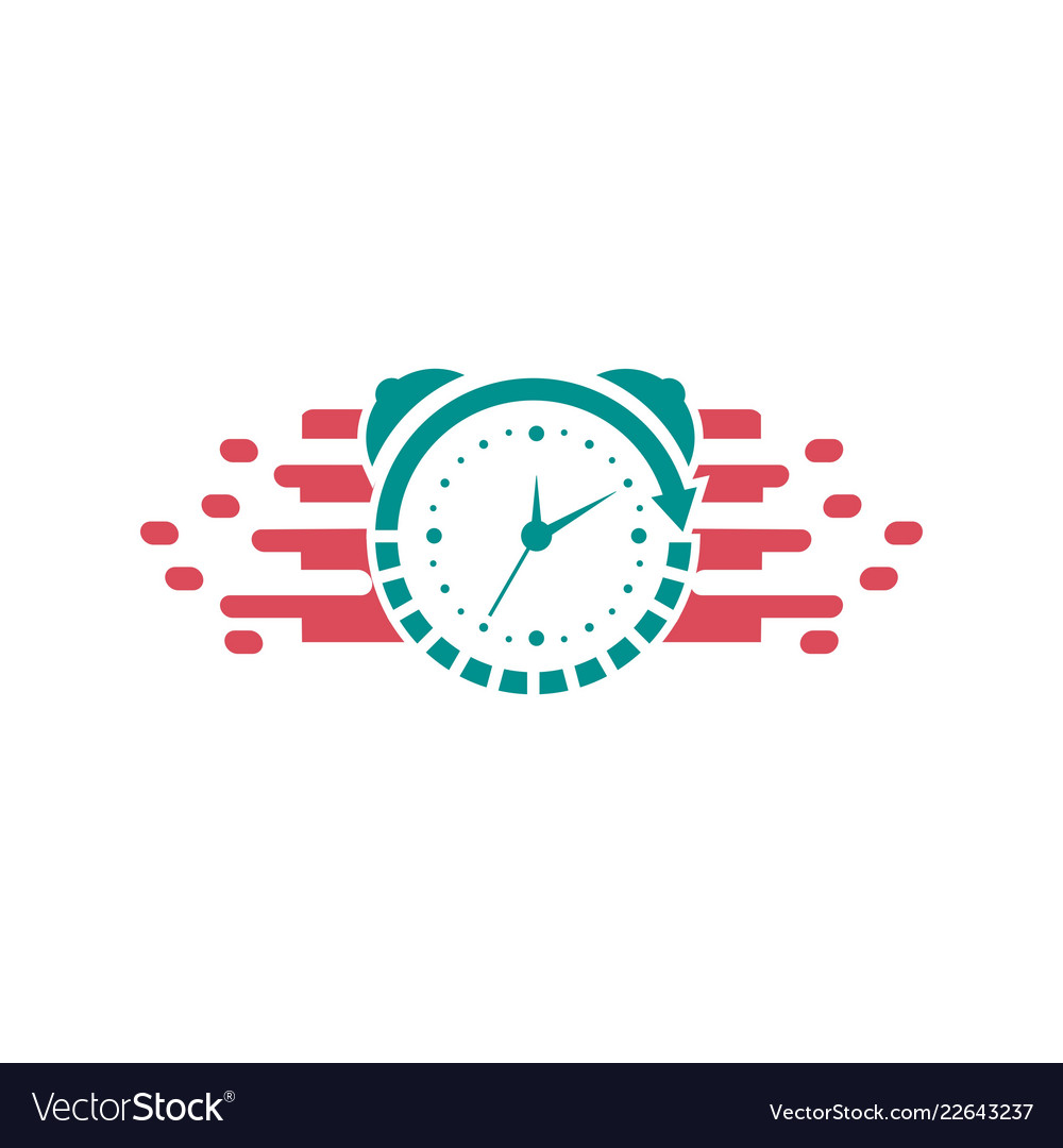 Clock logo design