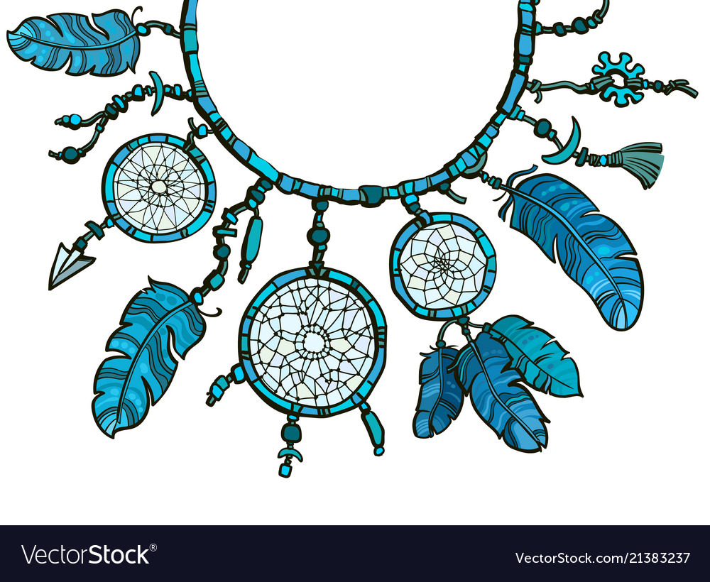 Green Mandala Dreamcatcher Long Necklace *Boho *Bohemian