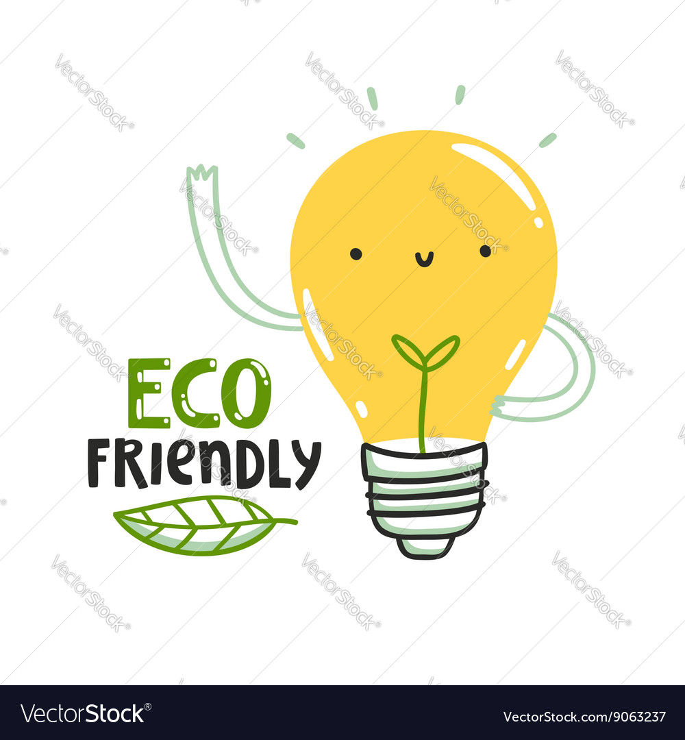 Eco friendly bulb vector image