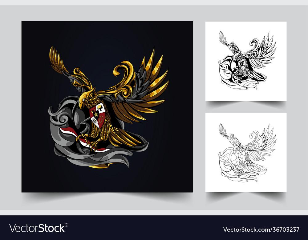 Garuda indonesian artwork