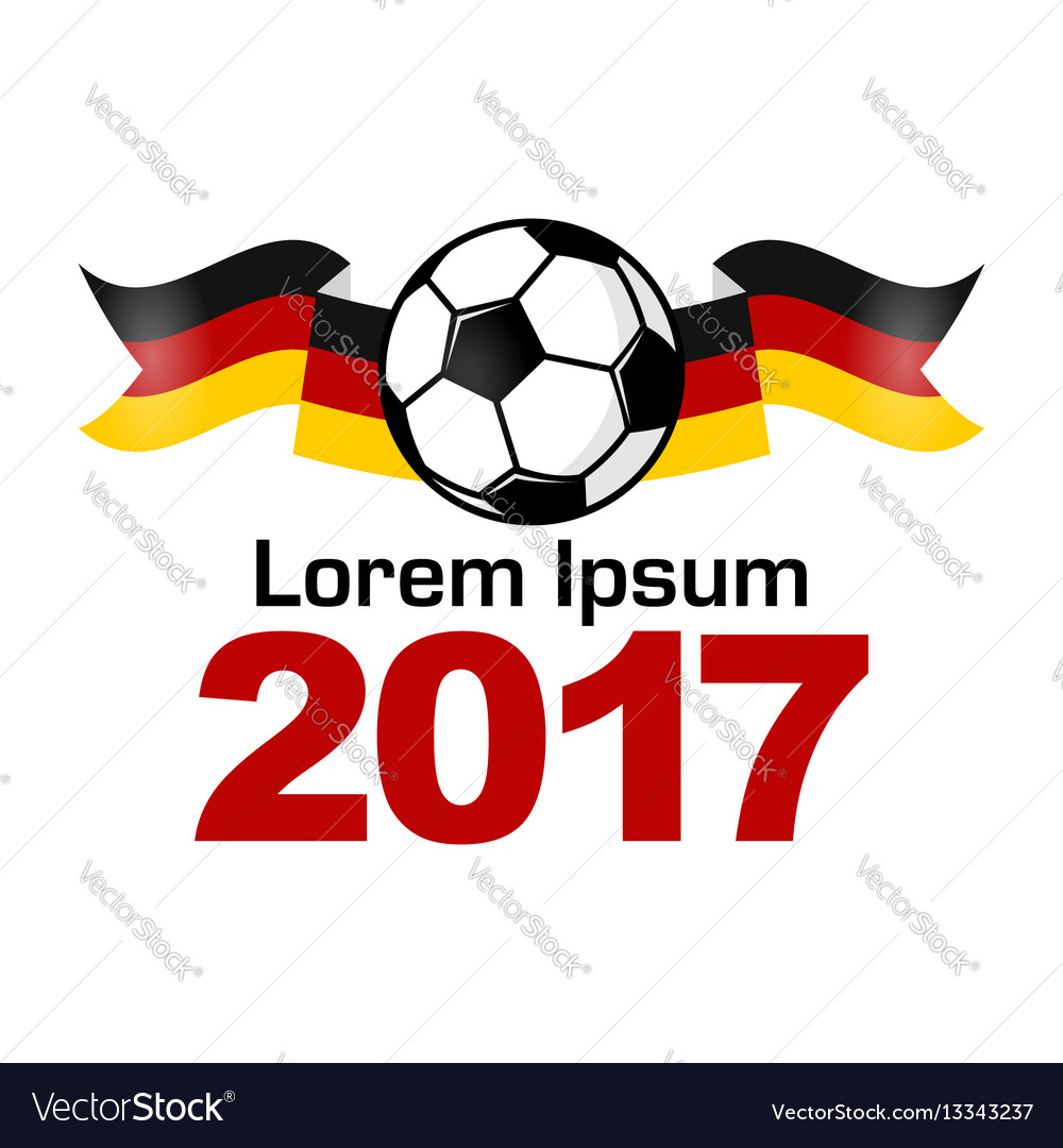 Germany Football Sport Icon Emblem Royalty Free Vector Image