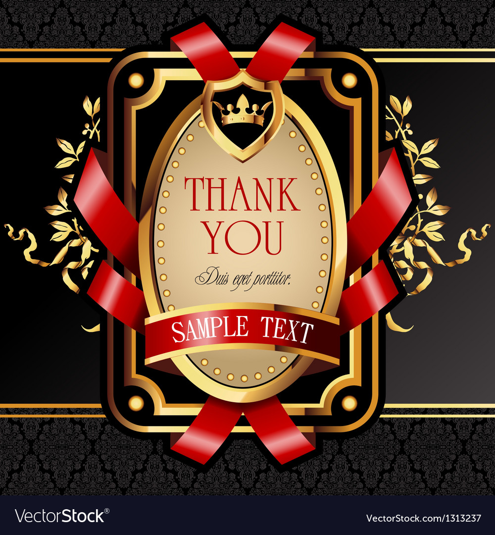Golden royal lable vector image