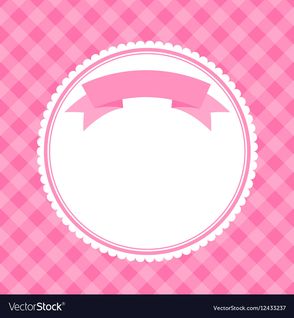 Pink frame for invitation card Royalty Free Vector Image