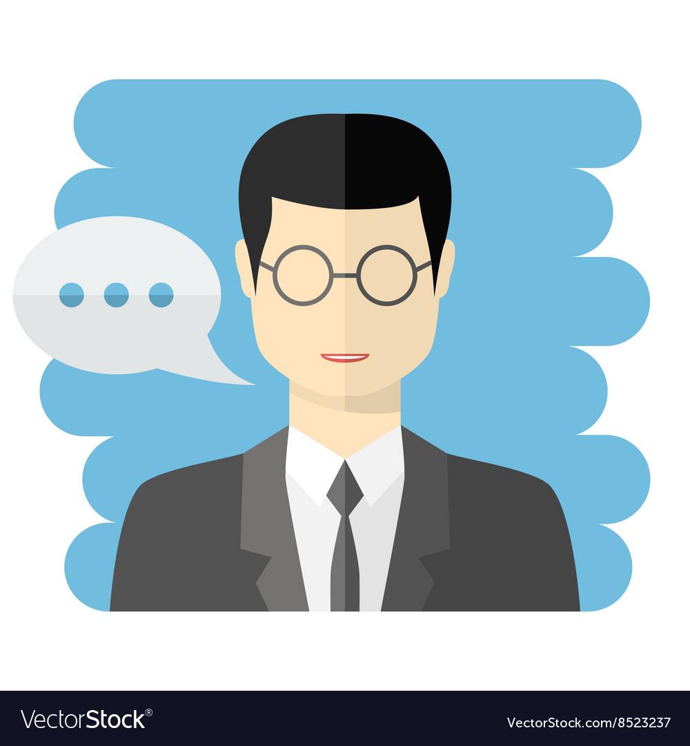 Teacher or businessman avatar