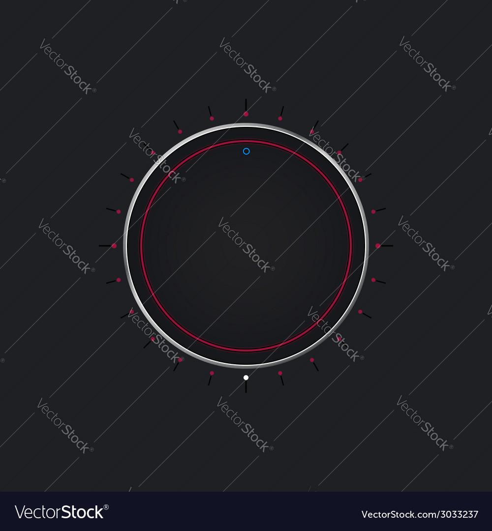 Volume knob button vector image