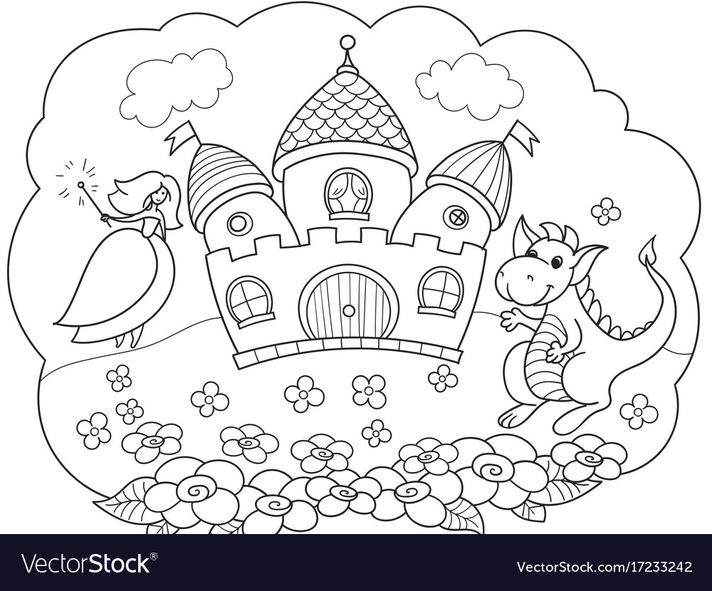 Bubble is a dream the story of the princess the vector image