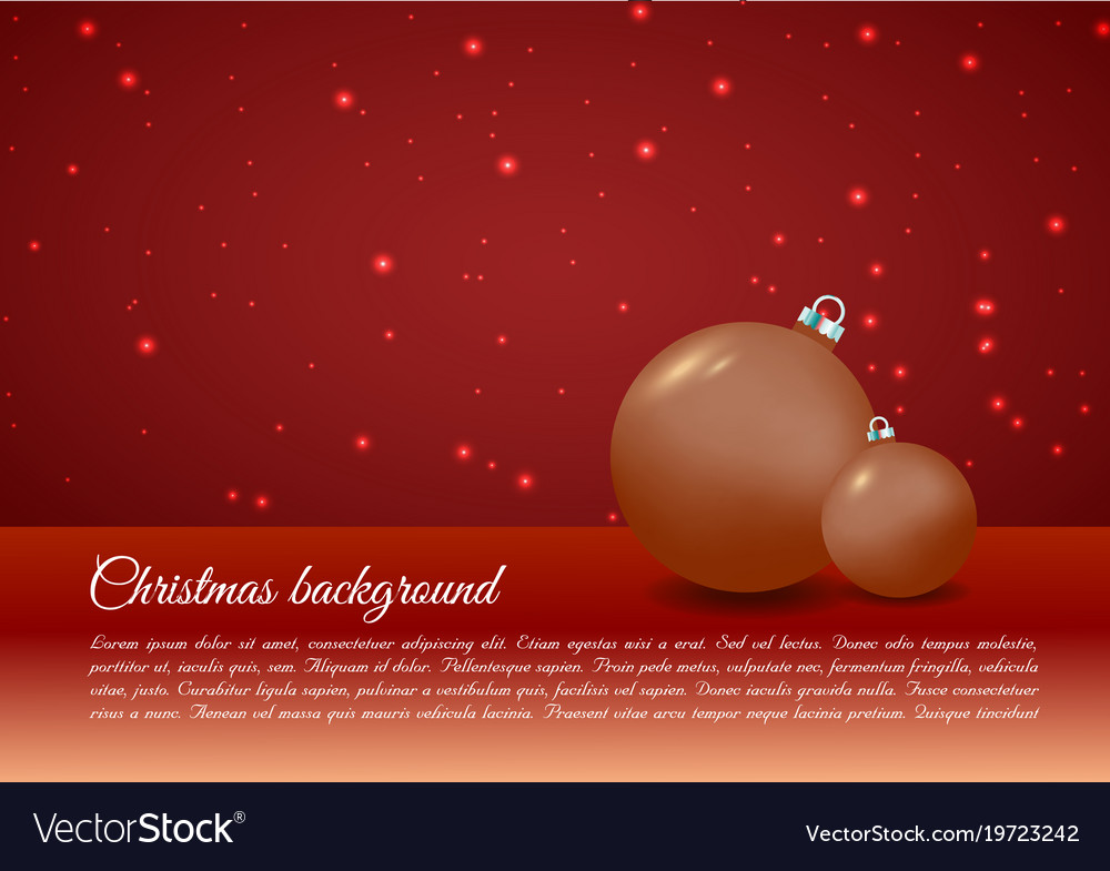 Christmas background with christmas ball in gold