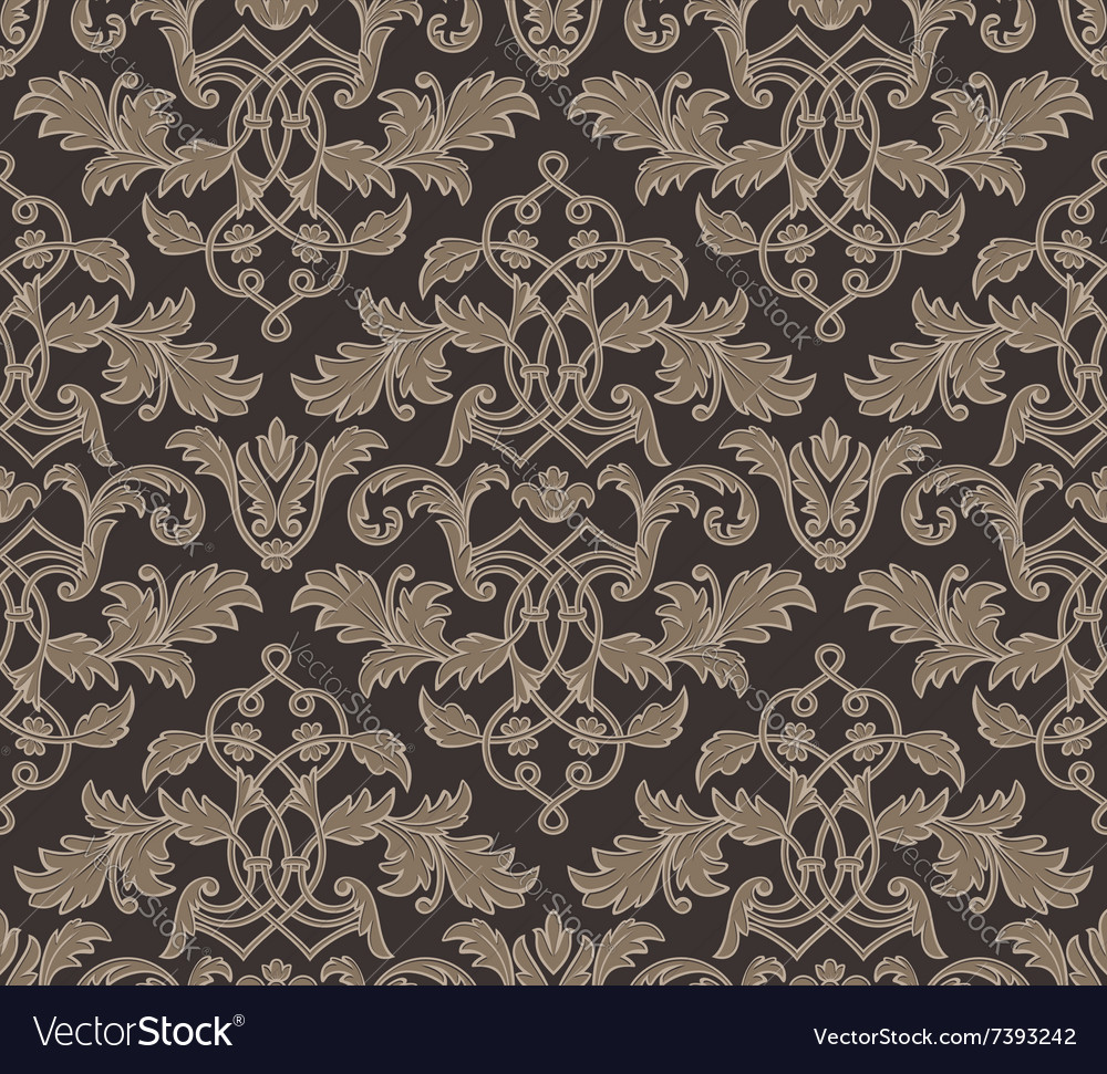 Damask vintage floral background pattern