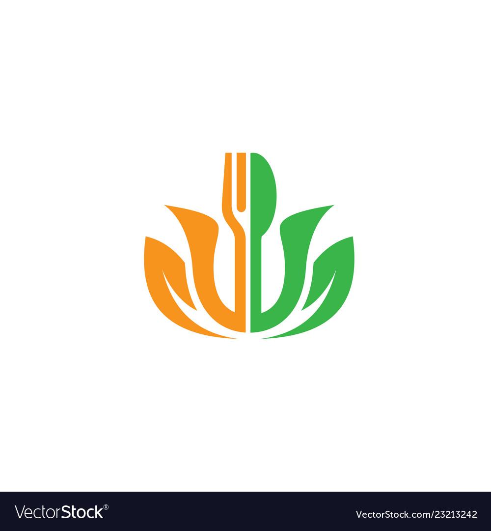 Leaf fork restaurant logo