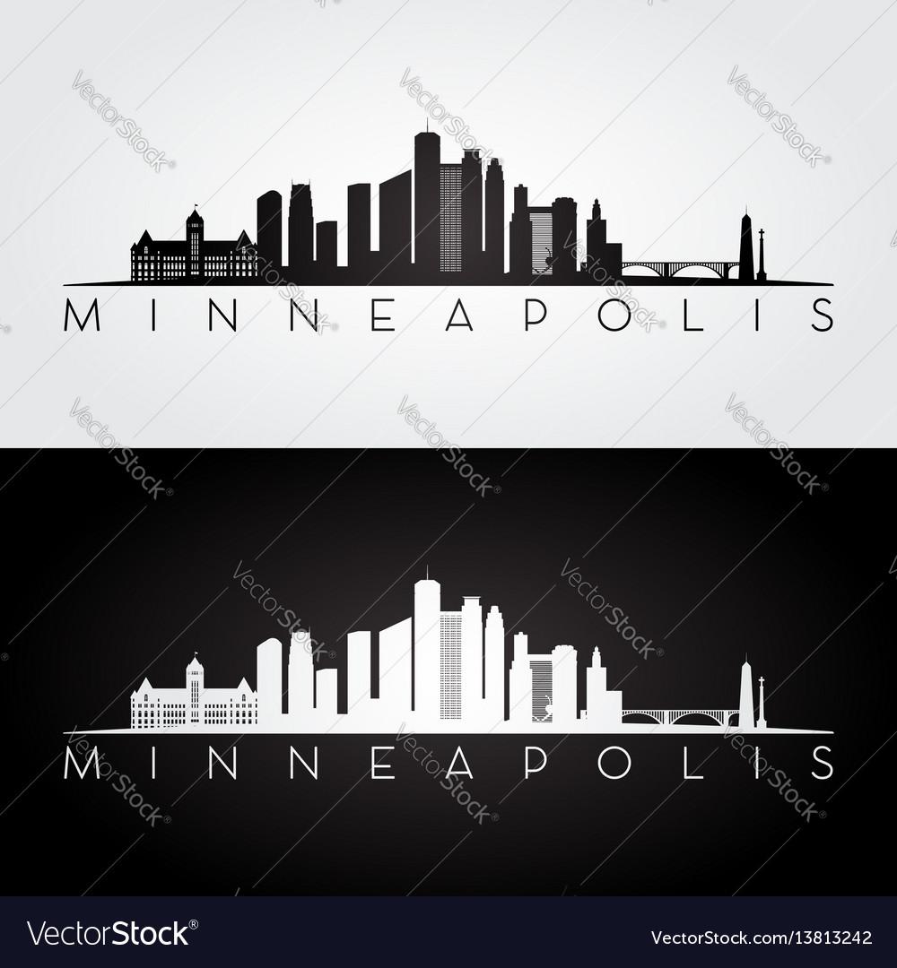 Minneapolis skyline silhouette vector image
