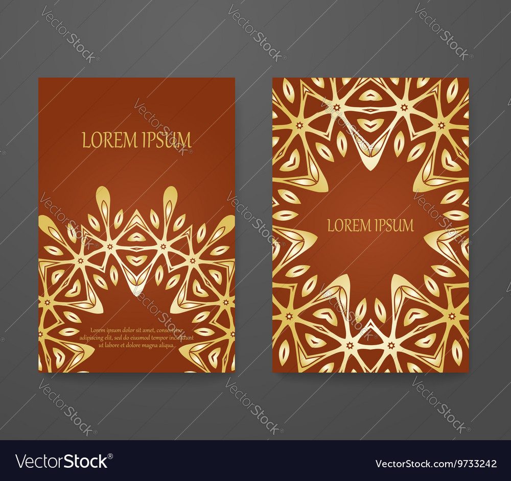 Set Of Vintage Greeting Cards Royalty Free Vector Image