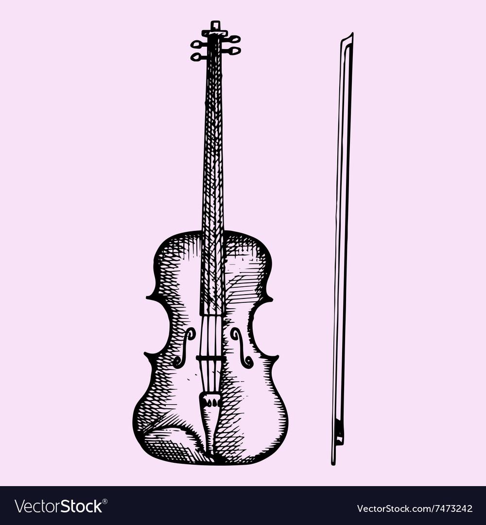 Violin bow vector image