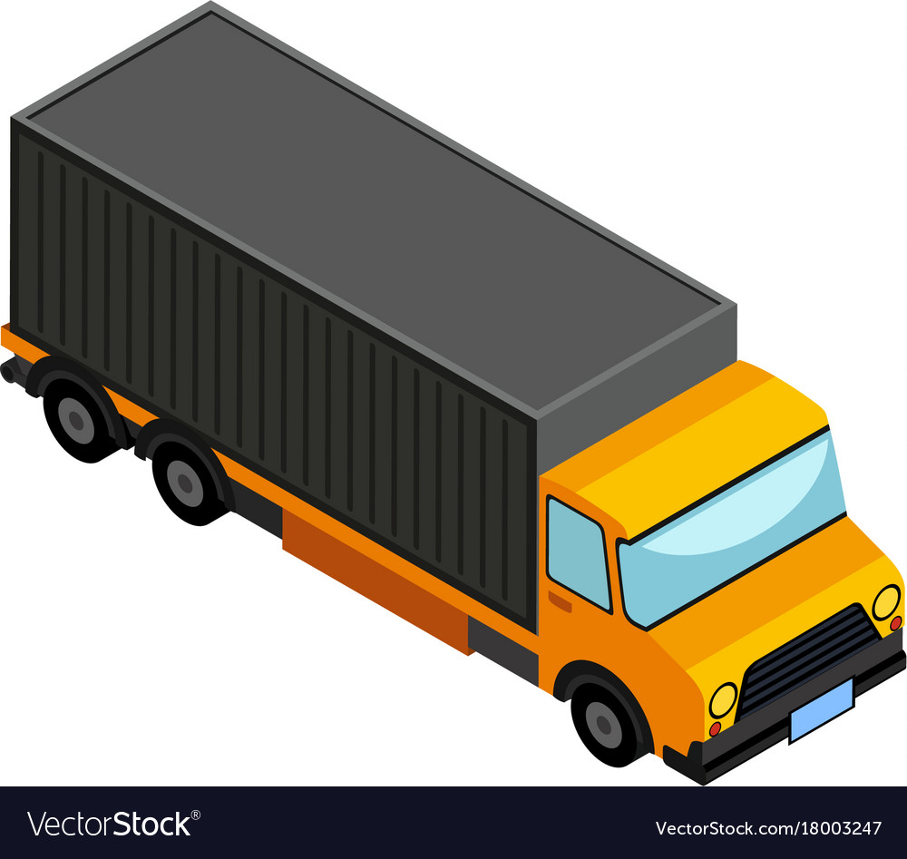 3d design for lorry truck royalty free vector image
