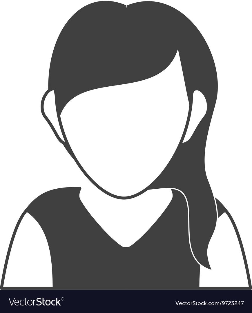 Avatar woman icon Person design graphic