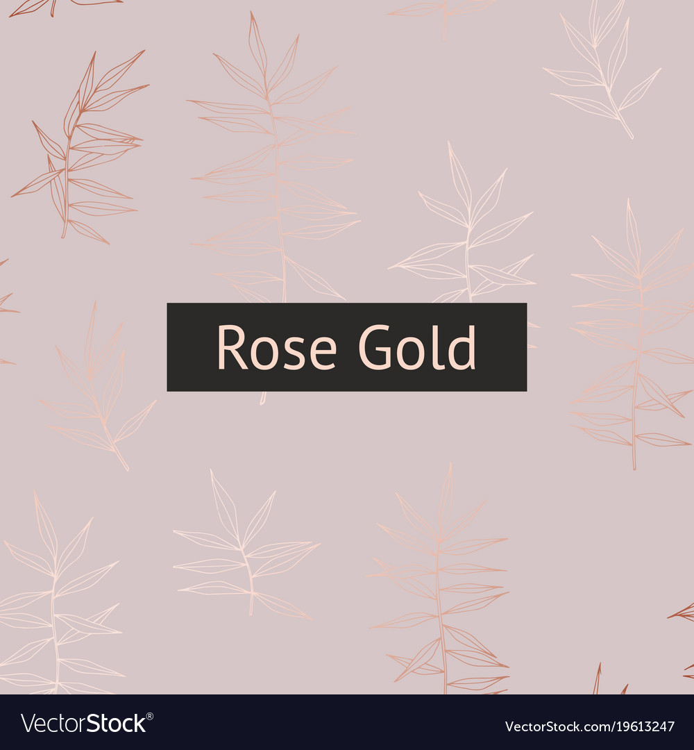 Background with rose gold imitation for printing vector image