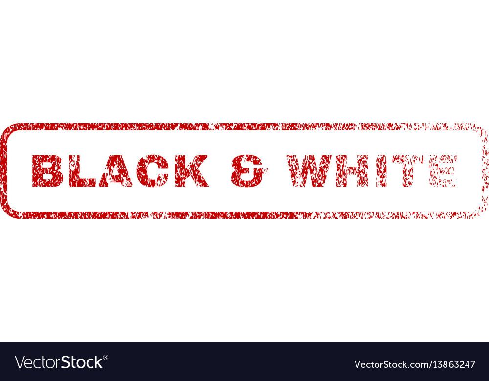 Black white rubber stamp vector image