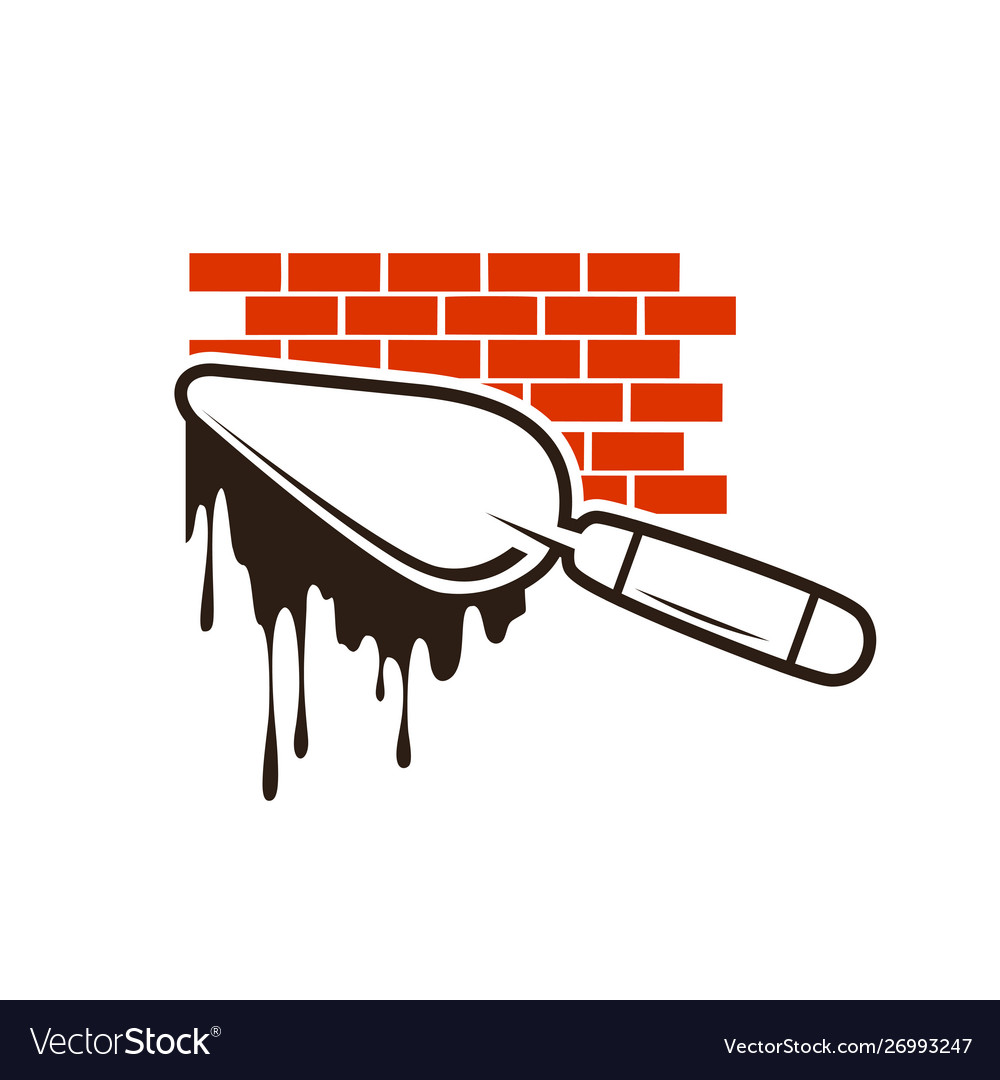 Brick construction logo
