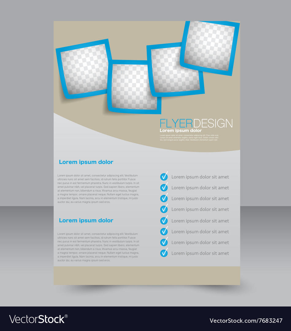 Brochure Design Flyer Template Editable A4 Poster Vector Image