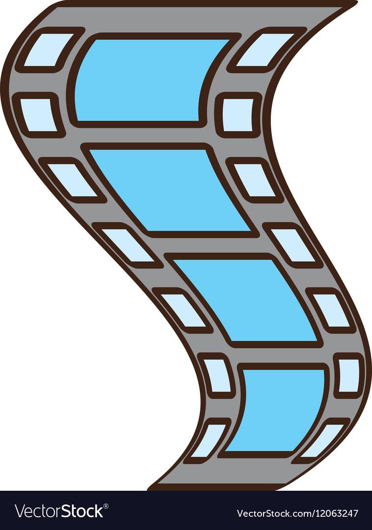 Cartoon film strip negative vector image