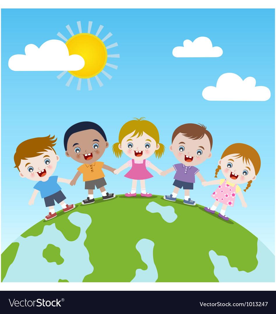 Children holding hand
