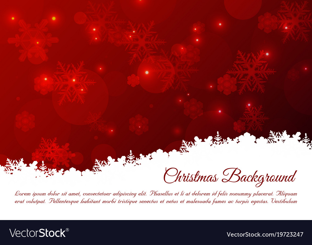 Christmas Background With Snowflakes In Red Color