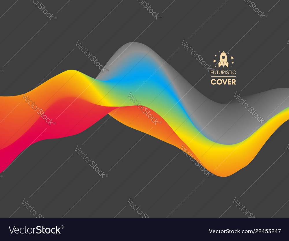 Colorful abstract background dynamic effect