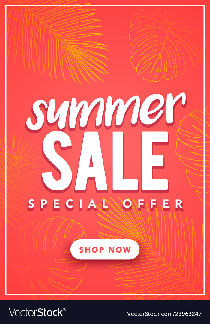 Colorful summer sale banner template
