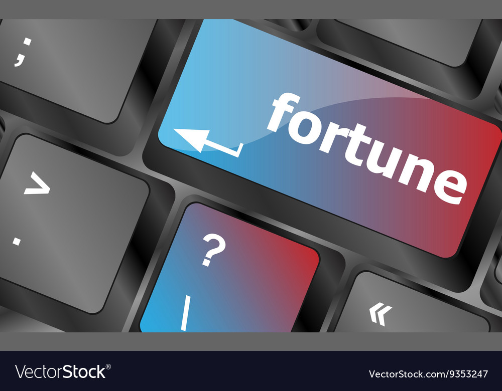 Fortune for investment concept with button on vector image