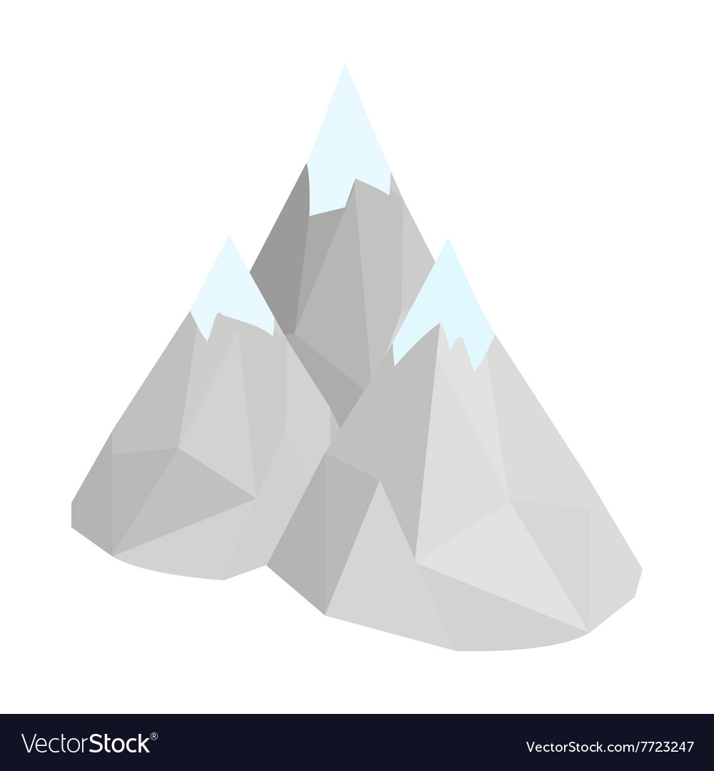 Mountain icon isometric 3d style vector image
