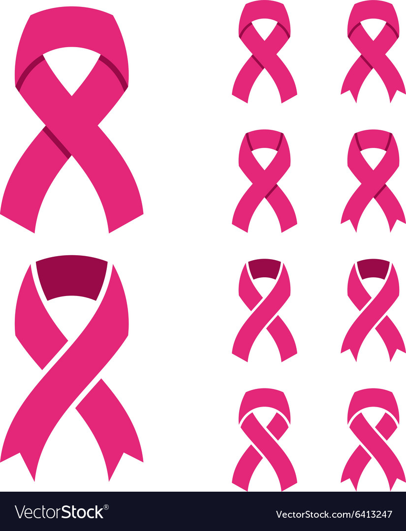 Pink Ribbon Breast Cancer Symbol Royalty Free Vector Image