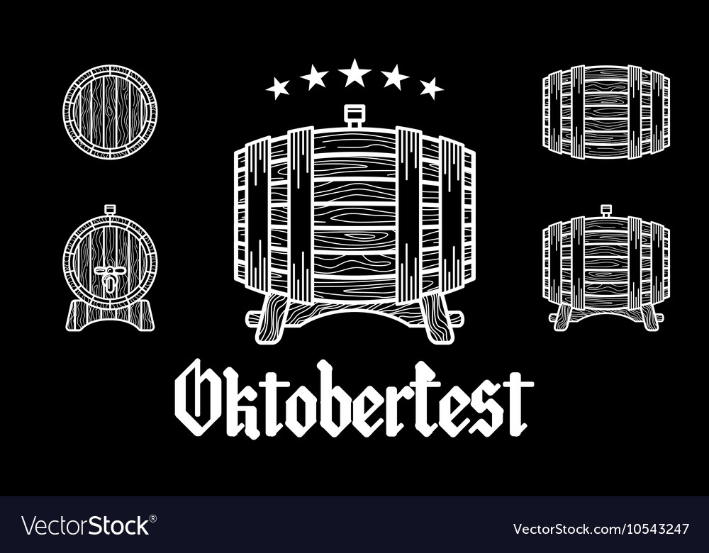 Set of Vintage Logo Templates For Beer House vector image