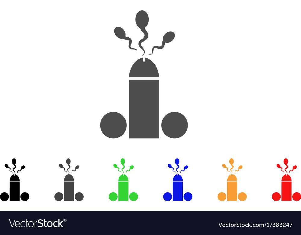 Sperm ejaculation icon vector image