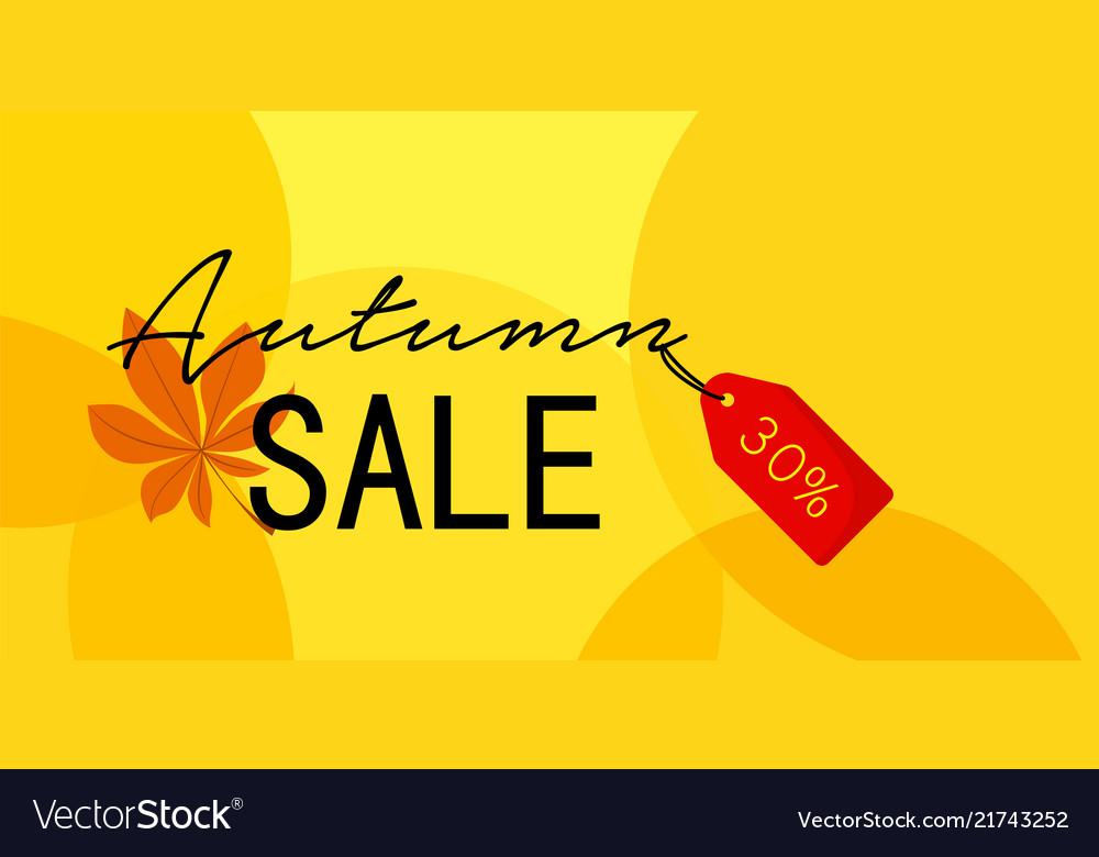 Autumn first sale banner horizontal flat style
