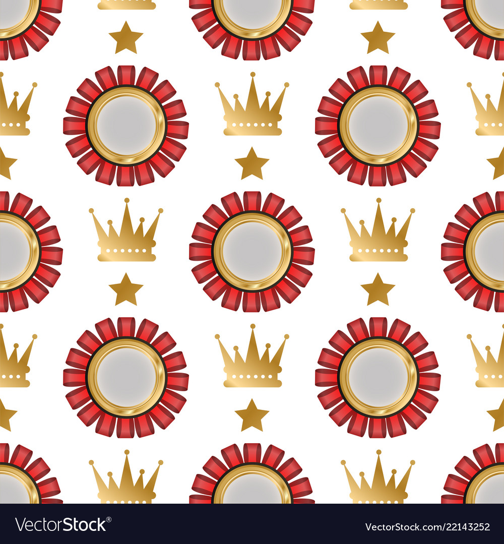 Badges shop product seamless pattern