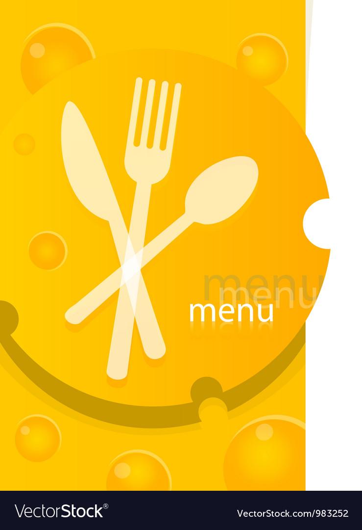 Menu template design vector image