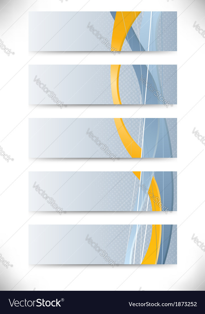 Set of business cards with golden stripe