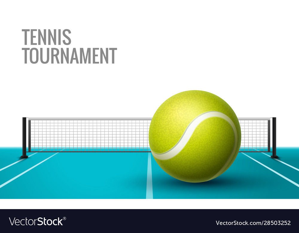 Tennis championship game tournament background vector