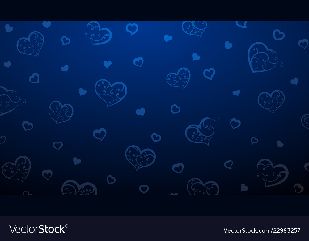 Background of big and small hearts