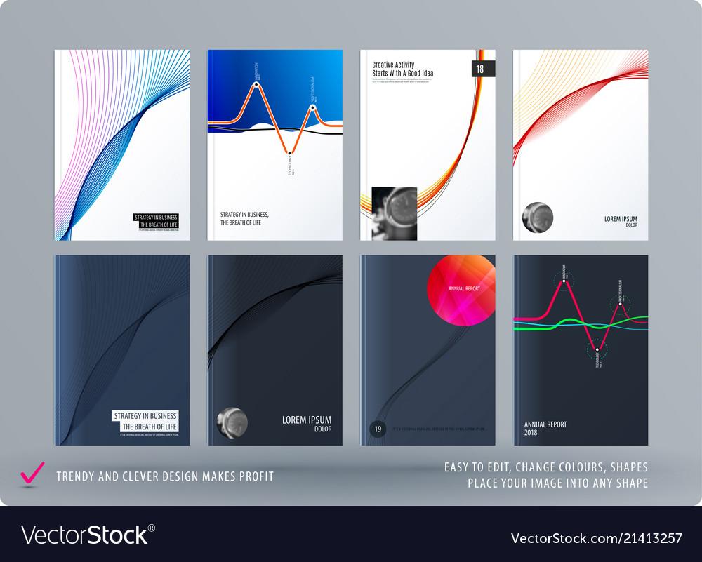 brochure design soft template colourful modern vector image