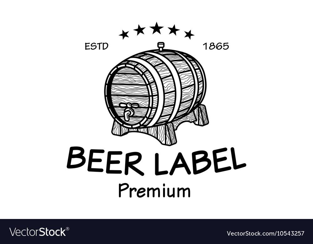 cask sketch set of vintage logo templates for beer