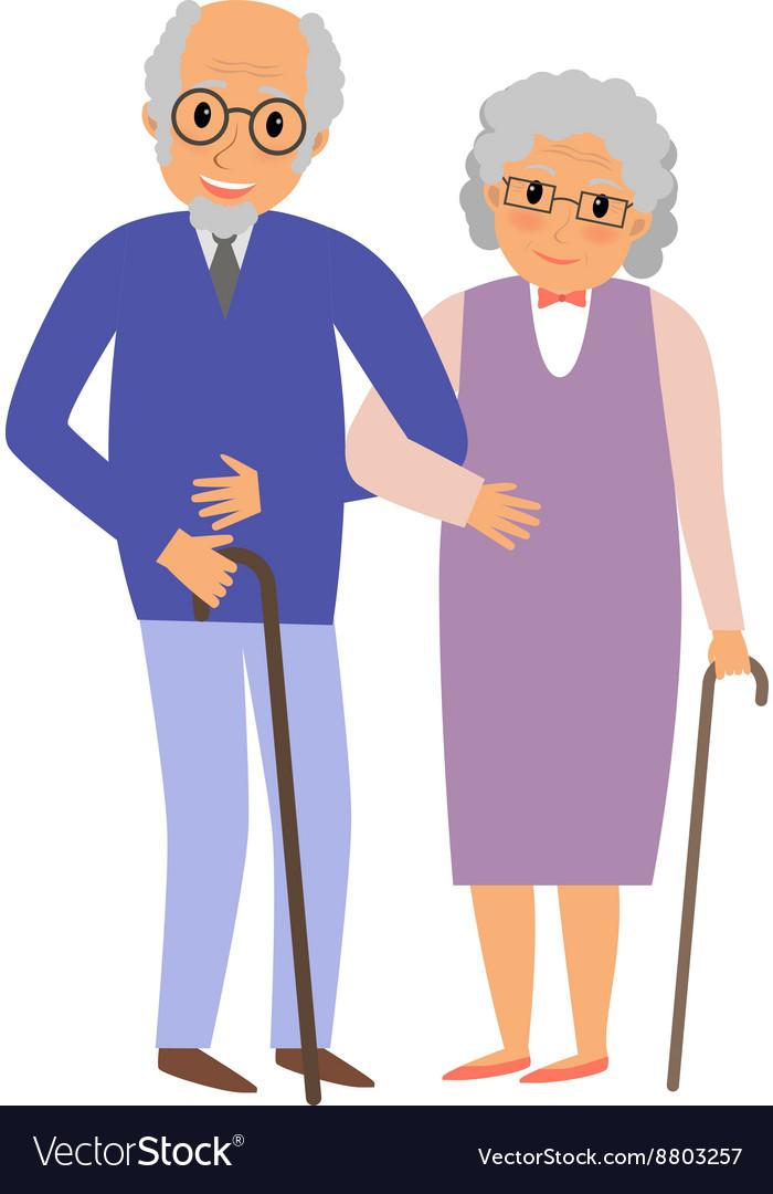 Happy grandparents couple