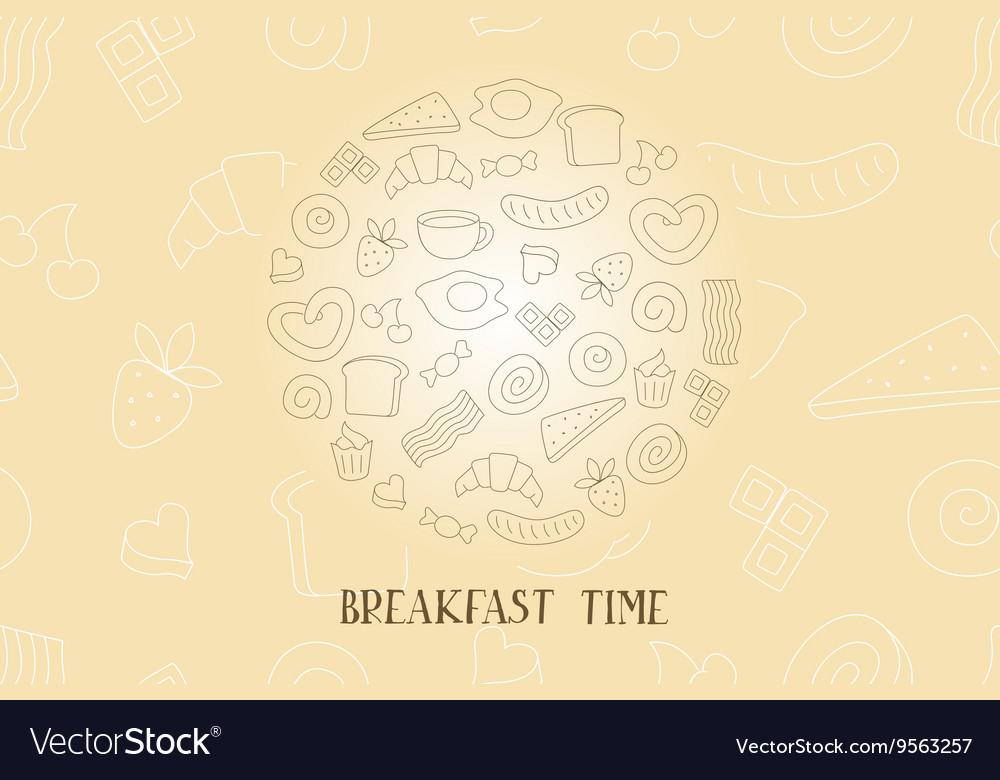 Vintage poster - breakfast